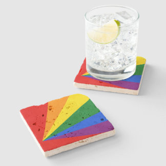 LGBT Color Rainbow Flag Stone Coaster