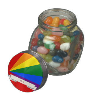 LGBT Color Rainbow Gay Pride Candy Jar Jelly Belly Candy Jars
