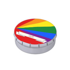 LGBT Color Rainbow Gay Pride Candy Tin at Zazzle