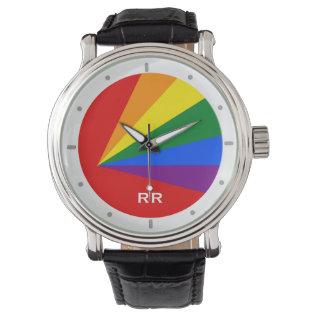 Lgbt Color Rainbow Gay Pride Wristwatch at Zazzle