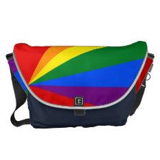 LGBT Color Rainbow Large Messenger Bag at Zazzle