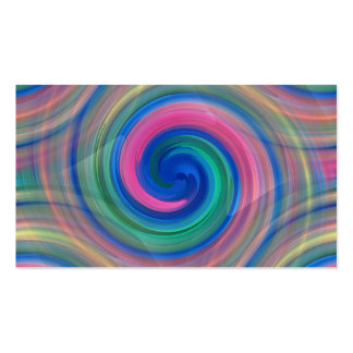 LGBT Color swirl rainbow colors continuous pattern Business Card