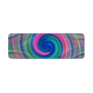 LGBT Color swirl rainbow colors continuous pattern Label