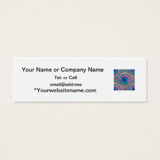 LGBT Color swirl rainbow colors continuous pattern Mini Business Card