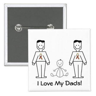LGBT Customizable 2 Dads & A Baby Button