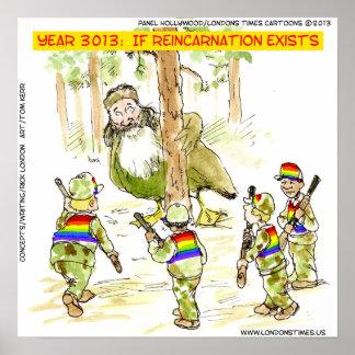 LGBT divertido contra el poster gigante del pato