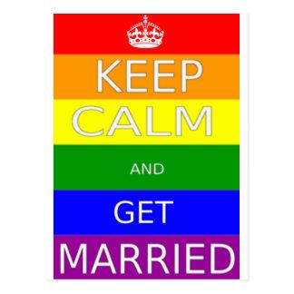 LGBT - El matrimonio homosexual guarda calma y Tarjetas Postales