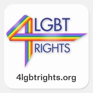 LGBT endereza a los pegatinas Pegatina Cuadrada
