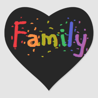 LGBT Family Logo. Heart Sticker