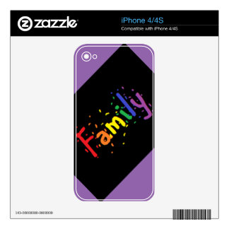 LGBT Family Logo. iPhone 4 Skins