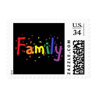 LGBT Family Logo. Postage