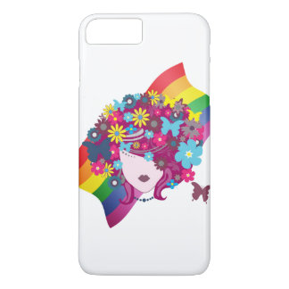 LGBT Flag and Woman iPhone 7 Plus Case