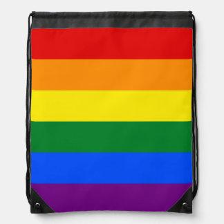 LGBT flag Drawstring Backpack
