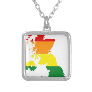 LGBT_flag_map_of_the_United_Kingdom.svg Silver Plated Necklace