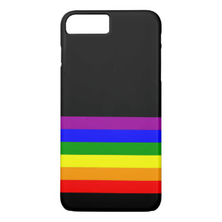 LGBT Flag on Black iPhone 7 Plus Case