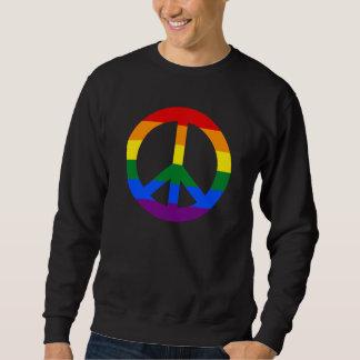 LGBT flag peace sign Sweatshirt