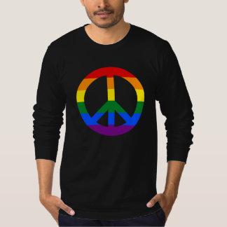 LGBT flag peace sign T-Shirt