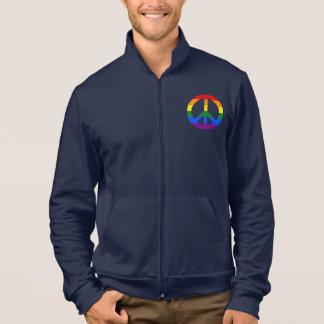 LGBT flag peace sign Track Jacket