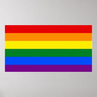 LGBT flag wall poster