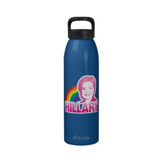 LGBT FOR HILLARY CLINTON 2016 REUSABLE WATER BOTTLE