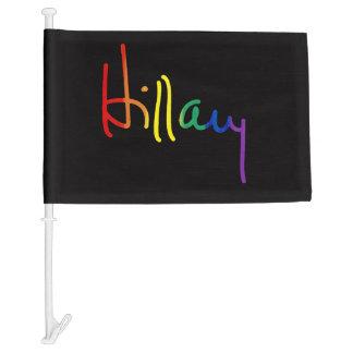 LGBT for Hillary Clinton Car Flag