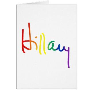 LGBT for Hillary Clinton Card