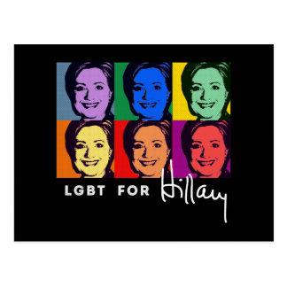 LGBT for Hillary Clinton - Pop Art -.png Postcard