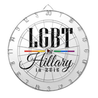 LGBT FOR HILLARY --.png Dart Boards