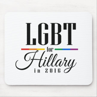 LGBT FOR HILLARY --.png Mousepads