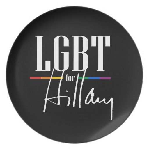 LGBT FOR HILLARY - -.png Party Plate