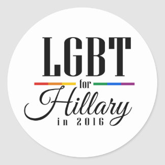 LGBT FOR HILLARY --.png Sticker