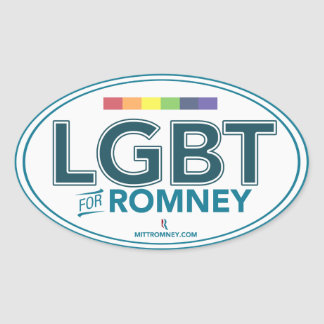 LGBT For Mitt Romney 2012 (Oval Sticker) Oval Sticker