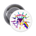 LGBT Freedom Fighter Pinback Button