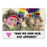 LGBT Gay Apparel Holiday Vintage greeting card