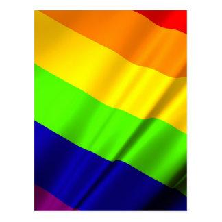 Lgbt Gay Flag Symbol Pride Rainbow Lesbian Love Postcard