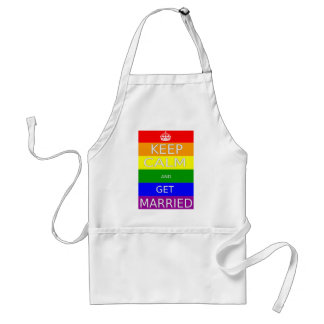 LGBT -Gay Marriage Keep calm and  Get Marriad Adult Apron