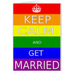 LGBT -Gay Marriage Keep calm and  Get Marriad Card