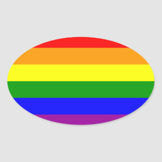 LGBT Gay Pride* Oval Sticker