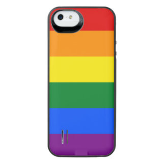 LGBT Gay Pride Rainbow Flag 6 Stripes iPhone SE/5/5s Battery Case