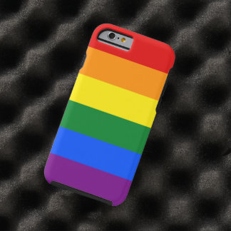 LGBT Gay Pride Rainbow Flag 6 Stripes Tough iPhone 6 Case