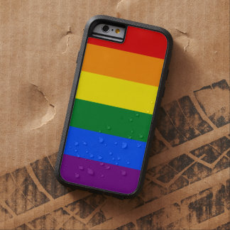 LGBT Gay Pride Rainbow Flag 6 Stripes Tough Xtreme iPhone 6 Case