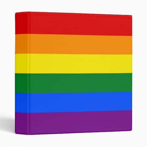 LGBT Gay Pride Rainbow Flag Binders