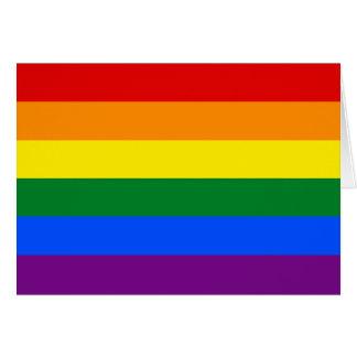 LGBT Gay Pride Rainbow Flag Card