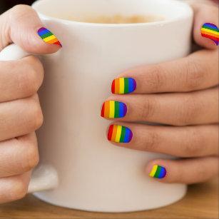 LGBT Gay Pride Rainbow Flag Colors Stripes Minx Nail Art
