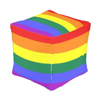 LGBT Gay Pride Rainbow Flag Cube Pouf