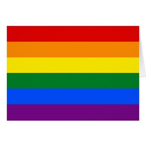 LGBT Gay Pride Rainbow Flag Greeting Card