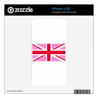 LGBT Gay Pride Rainbow Flag of the United Kingdom Skin For The iPhone 4