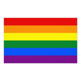 LGBT Gay Pride Rainbow Flag Photo Print
