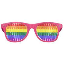 LGBT Gay Pride Rainbow Flag Retro Sunglasses