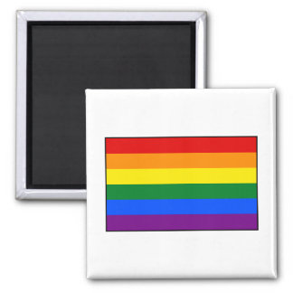 LGBT Gay Pride Rainbow Flag Stripe 2 Inch Square Magnet